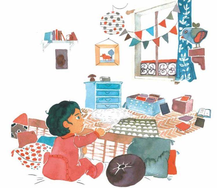 Păturica lui Jane, ilustratii