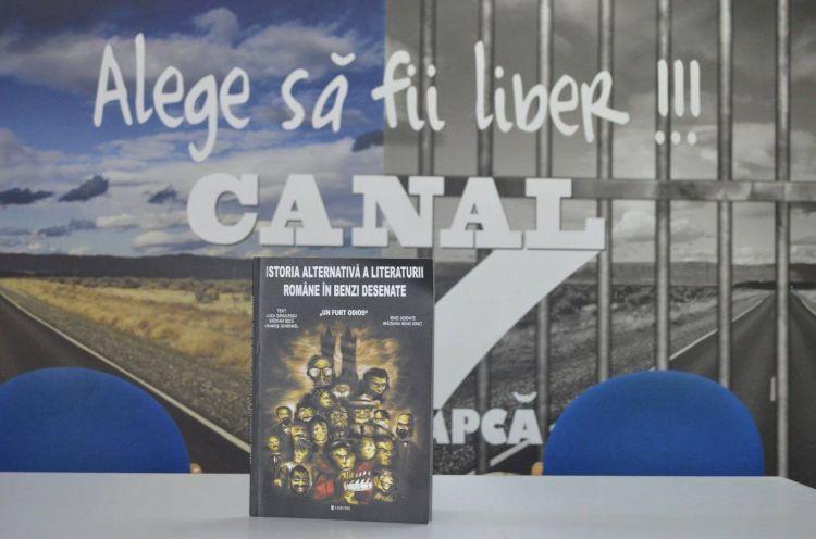 Istoria Aleternativa a Literaturii Romane in benzi desenate in studioul tv Canal 7 Popa Sapca din Penitenciarul Timisoara