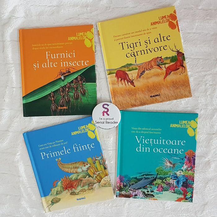 4 cărți pentru copii despre fascinanta lume a animalelor de la Editura Nemi