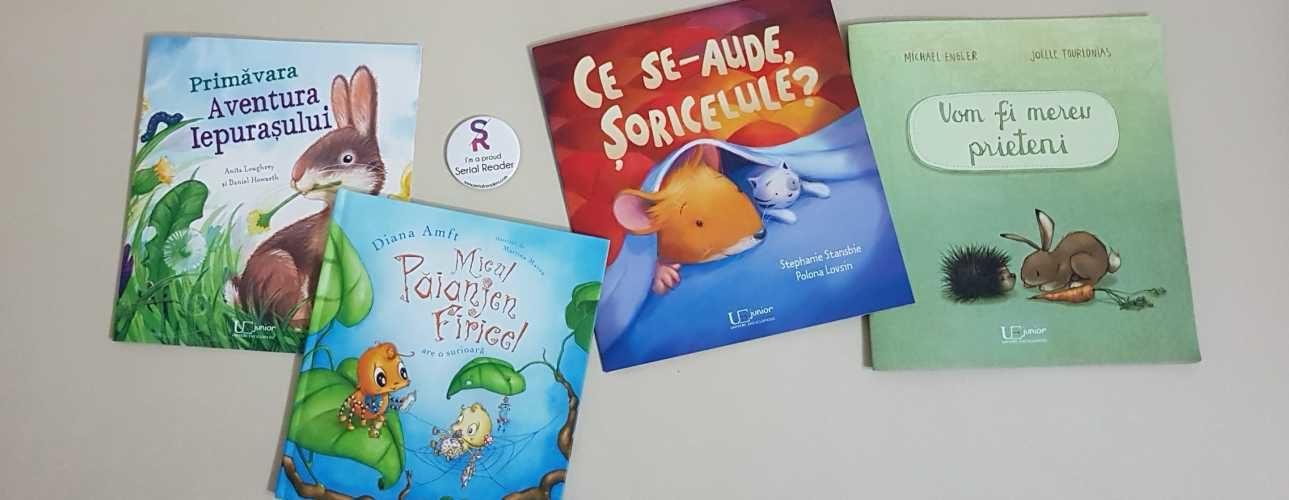 4 cărți pentru copii de la Editura Univers Enciclopedic Junior numai bune de citit la început de primăvară