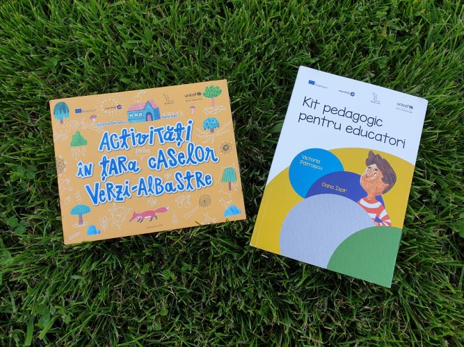 Kitul pedagogic pentru educatori și caietul cu Activități în Țara Caselor Verzi-Albastre